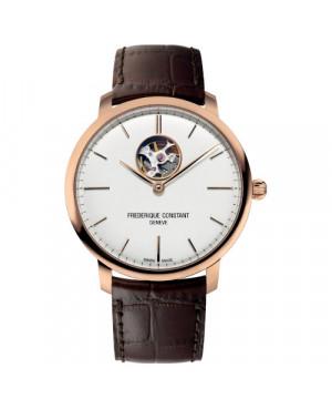 Szwajcarski klasyczny zegarek męski FREDERIQUE CONSTANT Slimline Heart Beat Automatic FC-312V4S4 (FC312V4S4)