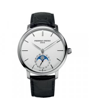 Szwajcarski elegancki zegarek męski FREDERIQUE CONSTANT Slimline Moonphase Manufacture FC-705S4S6 (FC705S4S6)