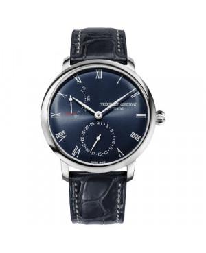 Szwajcarski elegancki zegarek męski FREDERIQUE CONSTANT Slimline POWER RESERVE MANUFACTURE FC-723NR3S6 (FC723NR3S6)