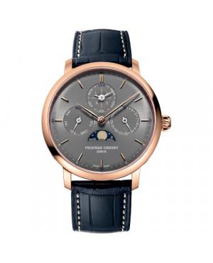 Szwajcarski elegancki zegarek męski FREDERIQUE CONSTANT Slimline Perpetual Calendar Manufacture FC-775G4S4 (FC775G4S4)