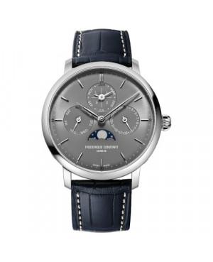 Szwajcarski elegancki zegarek męski FREDERIQUE CONSTANT Slimline Perpetual Calendar Manufacture FC-775G4S6 (FC775G4S6)