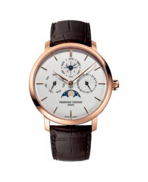 Szwajcarski elegancki zegarek męski FREDERIQUE CONSTANT Slimline Perpetual Calendar Manufacture FC-775V4S4 (FC775V4S4)