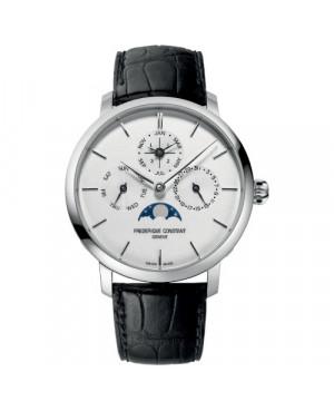 Szwajcarski elegancki zegarek męski FREDERIQUE CONSTANT Slimline Perpetual Calendar Manufacture FC-775S4S6 (FC775S4S6)