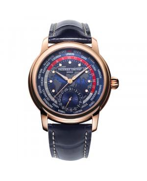 Szwajcarski elegancki zegarek męski FREDERIQUE CONSTANT MANUFACTURE WORLDTIMER FC-718NRWM4H9 (FC718NRWM4H9)