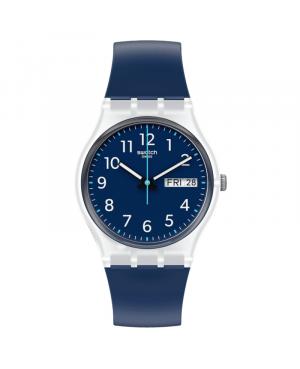 Szwajcarski modowy zegarek męski SWATCH RINSE REPEAT NAVY GE725