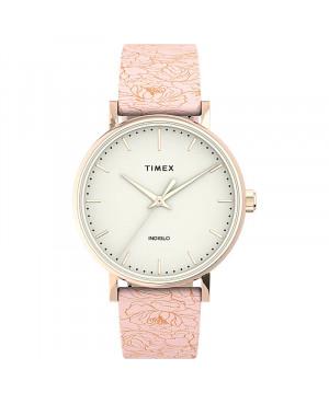 Klasyczny zegarek damski TIMEX Fairfield Floral TW2U40500
