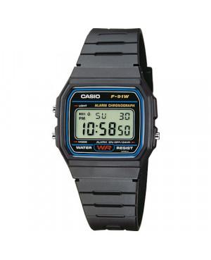 Sportowy zegarek męski CASIO F-91W-1YEF (F91W1YEF)