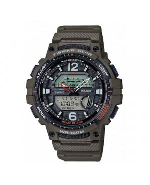 Sportowy zegarek męski CASIO Sport WSC-1250H-3AVEF (WSC1250H3AVEF)
