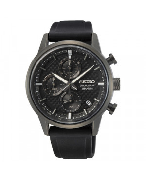 Sportowy zegarek męski SEIKO Chronograph Titanium SSB393P1
