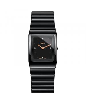 Szwajcarski elegancki zegarek damski RADO Ceramica Diamonds R21702722