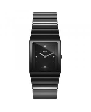 Szwajcarski elegancki zegarek damski RADO Ceramica Diamonds R21702702