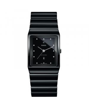 Szwajcarski elegancki zegarek RADO Ceramica Automatic Diamonds R21807702
