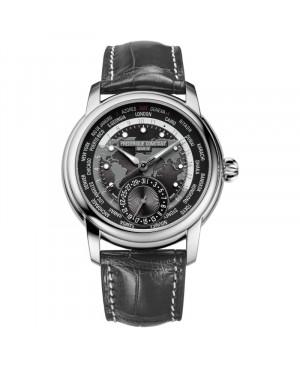 Szwajcarski elegancki zegarek męski FREDERIQUE CONSTANT MANUFACTURE WORLDTIMER FC-718DGWM4H6 (FC718DGWM4H6)