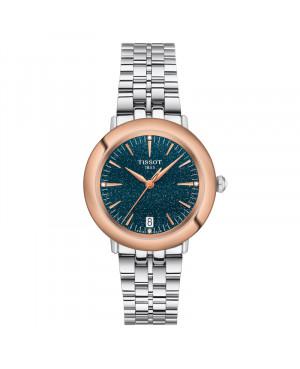 Szwajcarski klasyczny zegarek damski  TISSOT Glendora 18K T929.210.41.046.00 (T9292104104600)