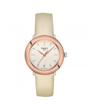 Szwajcarski klasyczny zegarek damski  TISSOT Glendora 18K T929.210.46.261.00 (T9292104626100)