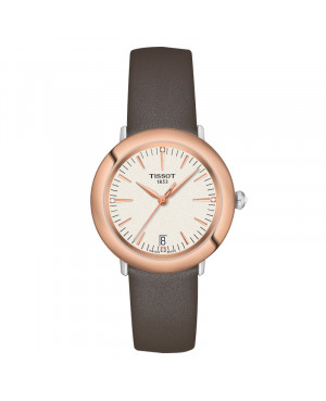 Szwajcarski klasyczny zegarek damski  TISSOT Glendora 18K T929.210.46.266.00 (T9292104626600)