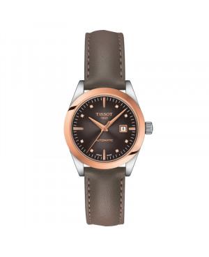 Szwajcarski klasyczny zegarek damski  TISSOT Lady Automatic 18K Gold T930.007.46.296.00