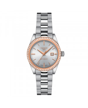 Szwajcarski klasyczny zegarek damski  TISSOT Lady Automatic 18K T930.007.41.031.00 (T9300074103100)