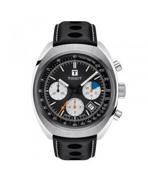 Szwajcarski sportowy zegarek męski TISSOT Heritage 1973 T124.427.16.051.00 (T1244271605100)