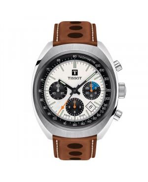 Szwajcarski sportowy zegarek męski TISSOT Heritage 1973 T124.427.16.031.01 (T1244271603101)