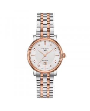 Szwajcarski klasyczny zegarek damski TISSOT Carson Lady Automatic T122.207.22.036.00 (T1222072203600)