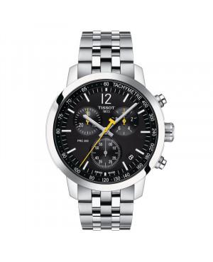 Szwajcarski sportowy zegarek męski TISSOT PRC 200 Chronograph T114.417.11.057.00 (T1144171105700)