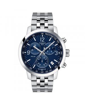 Szwajcarski sportowy zegarek męski TISSOT PRC 200 Chronograph T114.417.11.047.00 (T1144171104700)