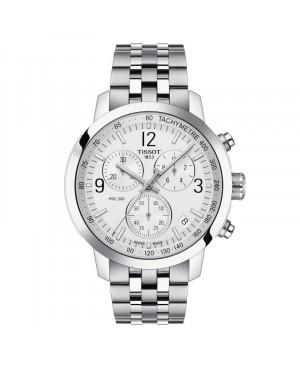 Szwajcarski sportowy zegarek męski TISSOT PRC 200 Chronograph T114.417.11.037.00 (T1144171103700)