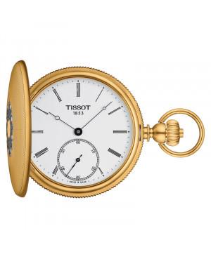 Szwajcarski zegarek kieszonkowy TISSOT Savonnette Mechanical T867.405.39.013.00 (T8674053901300)