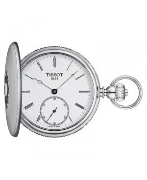Szwajcarski zegarek kieszonkowy TISSOT Savonnette Mechanical T867.405.19.013.00 (T8674051901300)