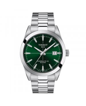 Szwajcarski klasyczny zegarek męski TISSOT Gentleman Powermatic 80 Silicium T127.407.11.091.01 (T1274071109101)