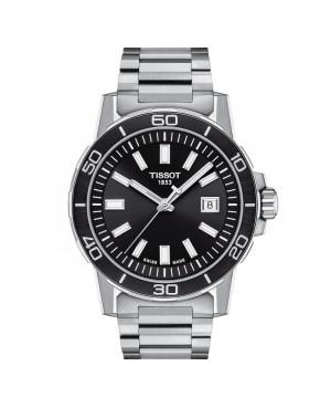 Szwajcarski elegancki zegarek męski TISSOT Supersport Gent T125.610.11.051.00 (T1256101105100)