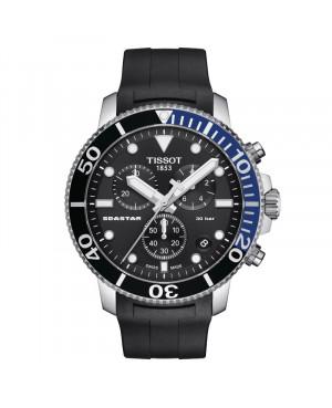 Szwajcarski sportowy zegarek męski TISSOT Seastar 1000 Chronograph T120.417.17.051.02 (T1204171705102)