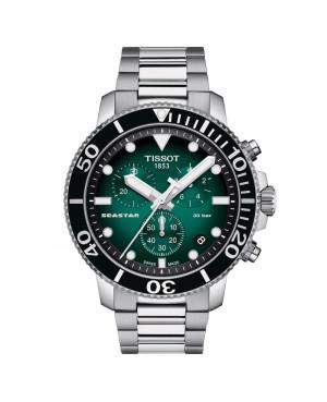 Szwajcarski sportowy zegarek męski TISSOT Seastar 1000 T120.417.11.091.01 (T1204171109101)