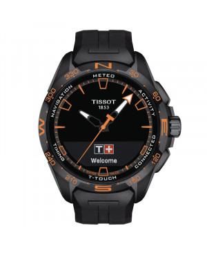 Szwajcarski sportowy zegarek męski TISSOT T-Touch Connect Solar T121.420.47.051.04 (T1214204705104)