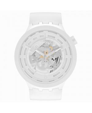 Szwajcarski sportowy zegarek męski SWATCH C-WHITE  SB03W100