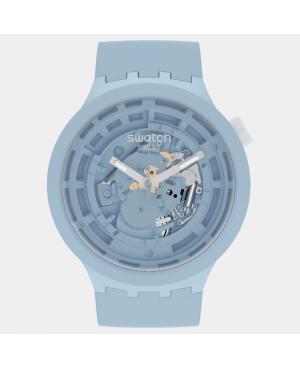 Szwajcarski sportowy zegarek męski SWATCH C-Blue Bioceramic SB03N100