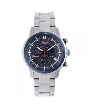 Szwajcarski sportowy zegarek męski ATLANTIC Sapphire Chronograph 87466.47.51 (874664751)