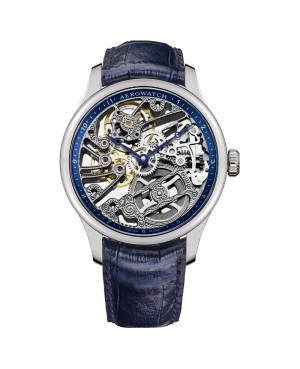 Szwajcarski klasyczny zegarek męski AEROWATCH Renaissance Skeleton Classic 50981 AA11