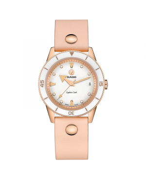 Szwajcarski sportowy zegarek damski RADO Captain Cook Marina Hoermanseder R32139708