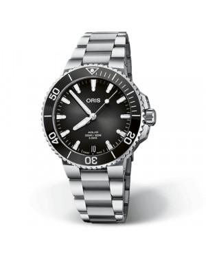 Szwajcarski zegarek męski do nurkowania ORIS Aquis Date Calibre 400 01 400 7769 4154-07 8 22 09PEB (01400776941540782209PEB)