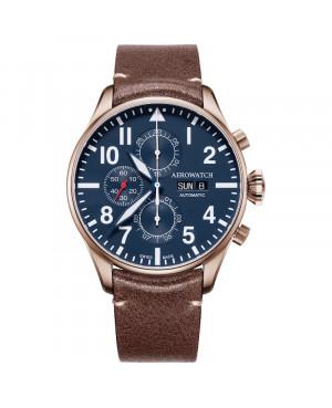 Szwajcarski klasyczny zegarek męski AEROWATCH Les Grandes Classiques 61989 R005 (61989R005)