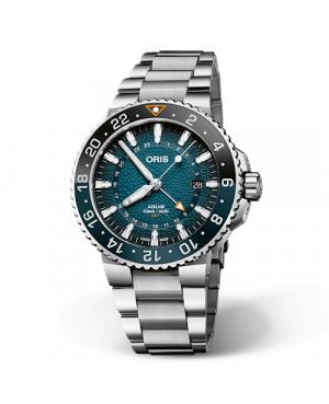 Szwajcarski zegarek męski do nurkowania ORIS Whale Shark Limited Edition 01 798 7754 4175 SET (0179877544175SET)