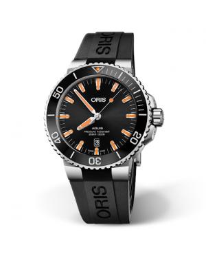 Szwajcarski zegarek męski do nurkowania ORIS AQUIS DATE 01 733 7730 4159-07 4 24 64EB (0173373041590742464EB)