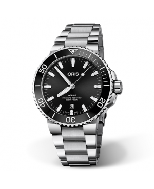 Szwajcarski zegarek męski do nurkowania ORIS AQUIS DATE 01 733 7730 4134-07 8 24 05PEB (01733773041340782405PEB)