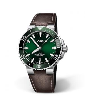 Szwajcarski zegarek męski do nurkowania ORIS AQUIS DATE 01 733 7730 4157-07 5 24 10EB (01733773041570752410EB)