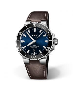 Szwajcarski zegarek męski do nurkowania ORIS AQUIS DATE 01 733 7730 4135-07 5 24 10EB (01733773041350752410EB)