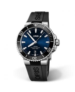 Szwajcarski zegarek męski do nurkowania ORIS AQUIS DATE 01 733 7730 4135-07 4 24 64EB (01733773041350742464EB)