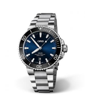 Szwajcarski zegarek męski do nurkowania ORIS AQUIS DATE 01 733 7730 4135-07 8 24 05PEB (01733773041350782405PEB)