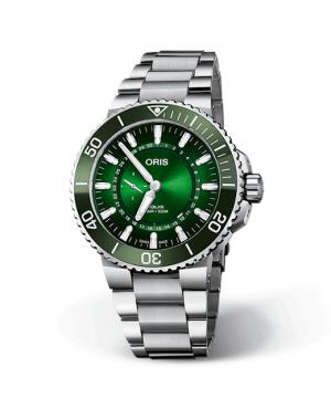 Szwajcarski zegarek męski do nurkowania ORIS AQUIS HANGANG LIMITED EDITION 01 743 7734 4187-Set (0174377344187Set)